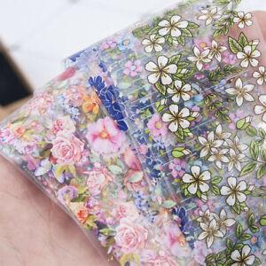 Conjunto-de-lamina-holografica-de-unas-de-10-piezas-Unas-Flores-Pegatina-de-transferencia-de