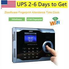 Biometric Fingerprint Attendance Time Clock Wifi Tcpip Usb