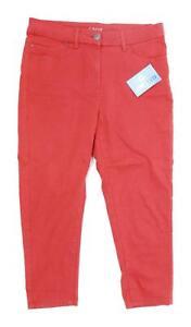 Womens-Marks-amp-Spencer-Red-Cotton-Blend-Jeggings-Size-14-L21
