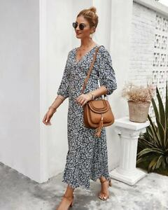 Casual-Cocktail-Boho-Dress-Dresses-Long-Sleeve-Loose-Maxi-Womens-Party-Evening