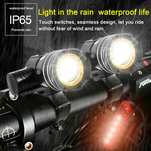 LED MTB Rear/&Front Set 15000LM Bicycle Lights Bike Headlight USB Rechargeable UK
