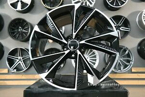 New 21 inch 5x112 RS7 design black polished wheels for Audi A4 A5 A6 A7 A8 Sline