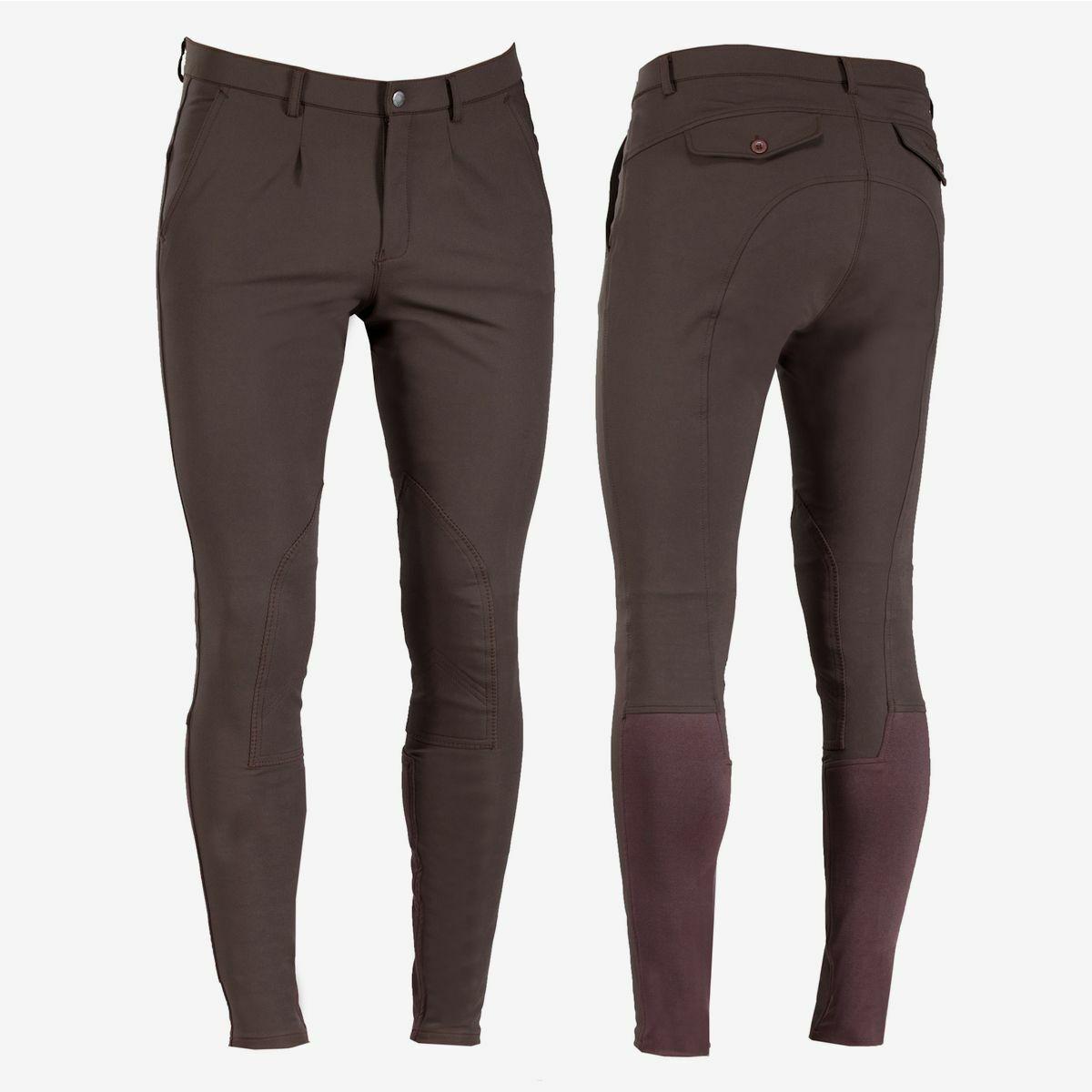B verdeigo Sander Hombre Auto-Parche  Equitación Pantalones de montar, frontal plisado cintura medio  solo cómpralo