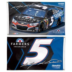 New-NASCAR-5-Kasey-Kahne-3-039-BY-5-039-Flag-FARMER-039-s-INSURANCE