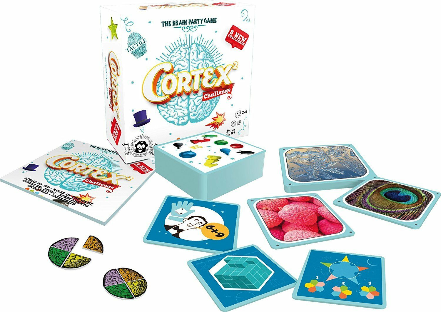 Card game. Cortex Cortex Cortex 2 Challenge. The Brain Party game. from 2 to 6 players 8b9b6f