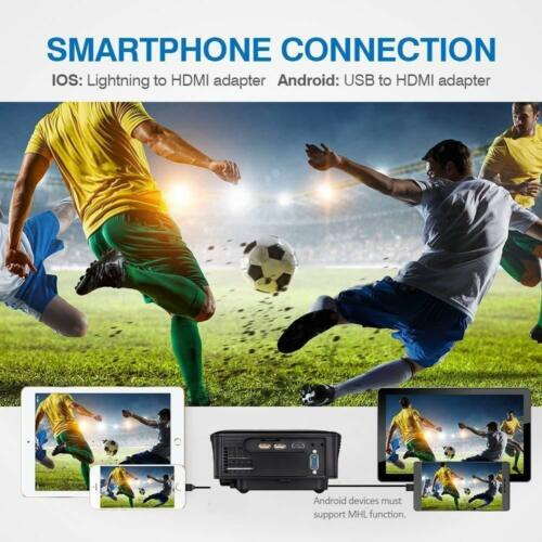 Full HD Video Projector LED 80/% brighter Home Theater 1080p Movie SD USB HDMI