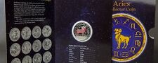 Rare 2011 Cook Is.Silver Color Proof$1 Zodiac-Aries/Mars-Folder,mintage 2500