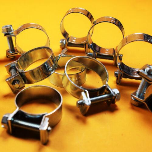 10 Stück Micro Mini Schlauchschellen rundziehend W1 Spannweite 23-25 mm