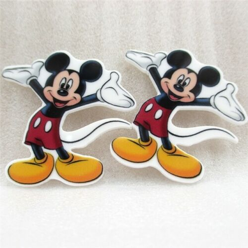 5 x 40mm NEW MICKEY MOUSE LASER CUT FLAT BACK RESIN HEADBANDS HAIR BOWS PLAQUES