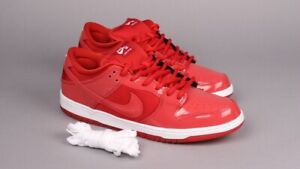 new concept 6fdbd 612e4 Details about Nike Dunk Low Pro SB Patent Red Space Jam Varsity Red /White  Size 12 304292 616