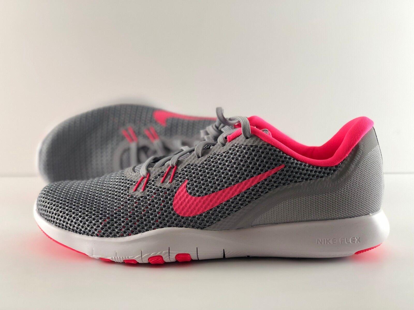 Nike Wmns Flex Trainer 7 Wolf grau   Racer Rosa 898479 006 Größe 10