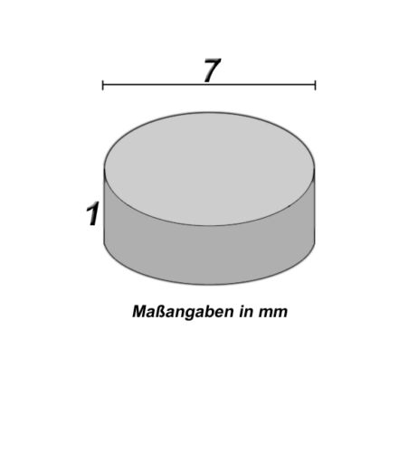 10 Neodym Magnete  7 x 1 mm  rund  Neu