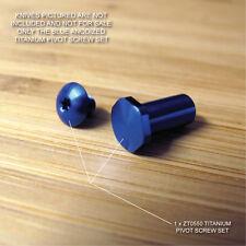 Zero Tolerance ZT0550  ZT 550 Knife BLUE Anodized Titanium Pivot Torx Screw Set