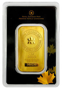 Royal-Canadian-Mint-RCM-1-oz-Gold-Bar-Sealed-with-Assay-Certificate-SKU27048