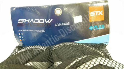 STX PD APSW 04 BK//XX Shadow Lacrosse Arm Pads Black Extra Large XL