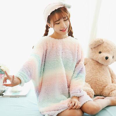 Kawaii Japanese Sweet Lolita Thicken Winter Loose Cute Sleepwear Dress Pajamas