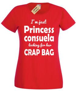 Princesse-Consuela-T-shirt-femme-drole-amis-Top-Phoebe-Citation-Cadeau