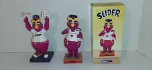 Lot-Of-2-Slider-Mascot-Lifeguard-Cleveland-Indians-Bobblehead-And-Ohio-Statue