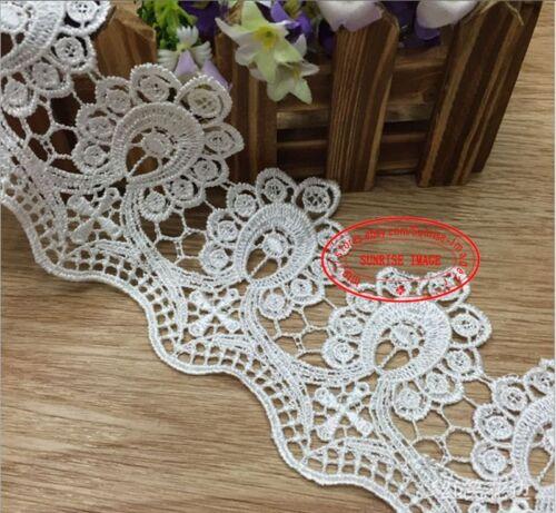1 Yard Embroidered Lace Trim Ribbon Wedding ribbon Sewing dress Craft DIY FL140