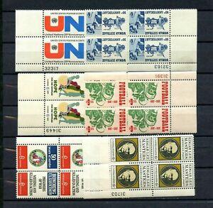Lot de 6 plaque de blocs de 4 (6 cent) TIMBRES-F/VERY FINE-inutilisées-ORIGINAL GUM-Jamais à charnière-Comme neuf