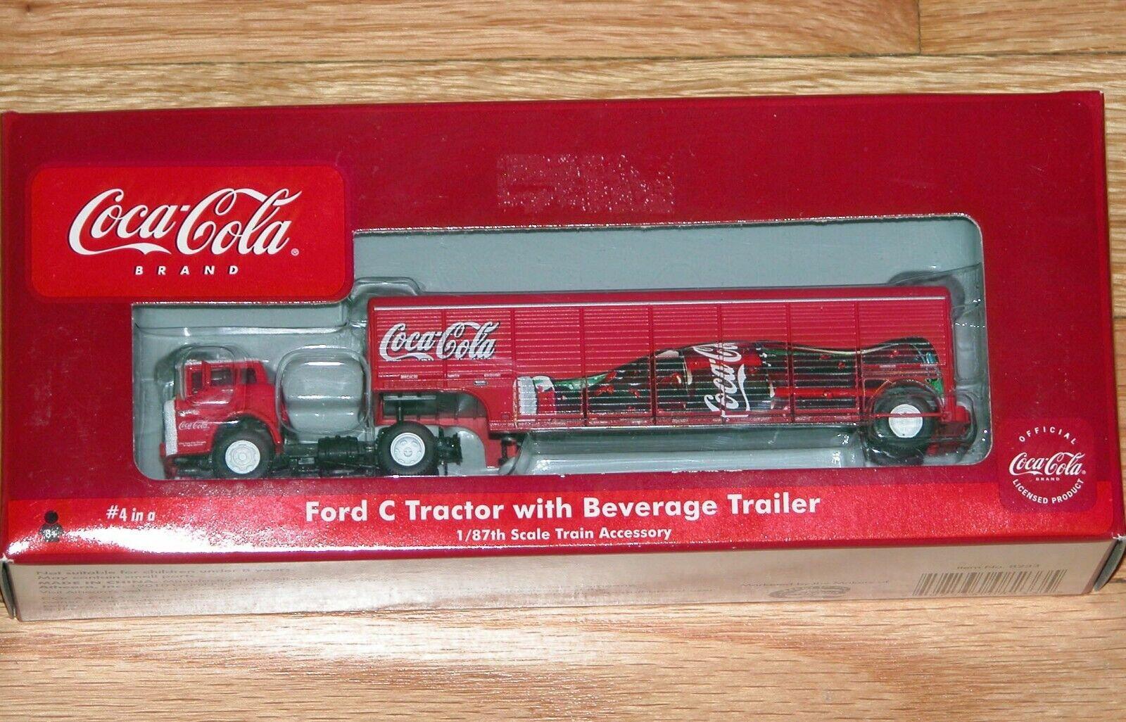Athearn 8233 Tren De Coca Cola Colección Ford C Tractor con Remolque de bebidas