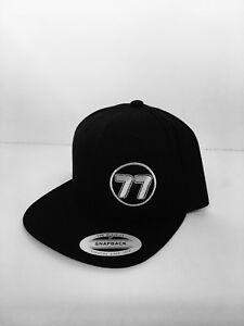 Vampar Clothing Co Original Logo Snapback Flat Bill Hat Black Surf Skate Snow