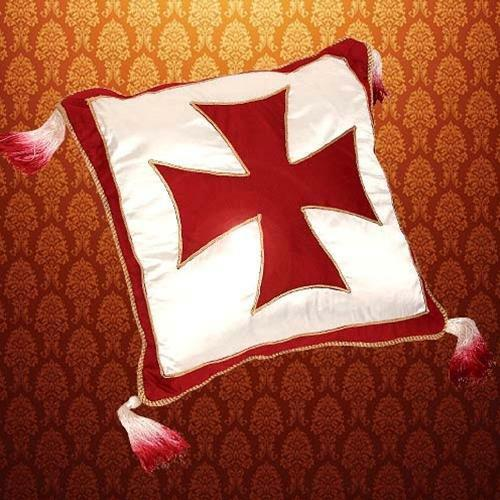 MEDIEVAL Knight Crusader Middle Ages TEMPLAR CROSS Satin PILLOW CASE 15