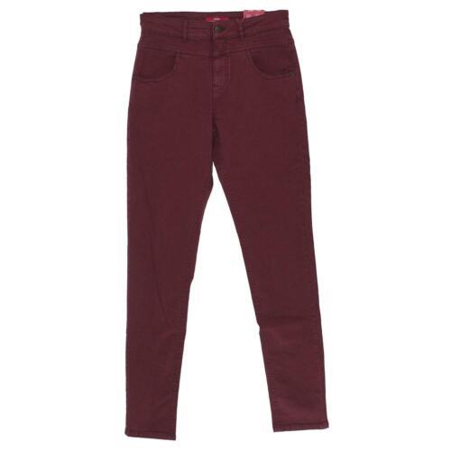 OLIVER Damen Jeans Hose HIGH RISE SKINNY Stretch weinrot 17848 S