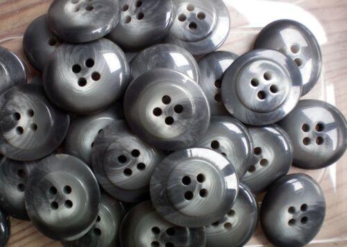 BB16 28mm X 24mm en gris jaspeado Oval 4 Agujero Botones Coser Tejer botón
