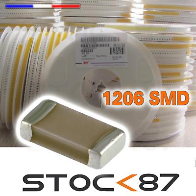 20 à 100pcs condensateur CMS 1206 de 2,2 pF à 10uF 25-50V capacitor SMD ceramic