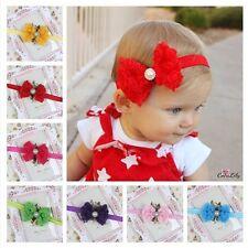 Girl Kid Newborn Hairband Baby Darling Lace Flower Headband Rose Bow