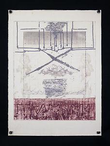 """Guy-henri Dacos (1940-2012) """"guimauve"""" 3/50 Abstrait Technique Mixte Liège Longue DuréE De Vie"""