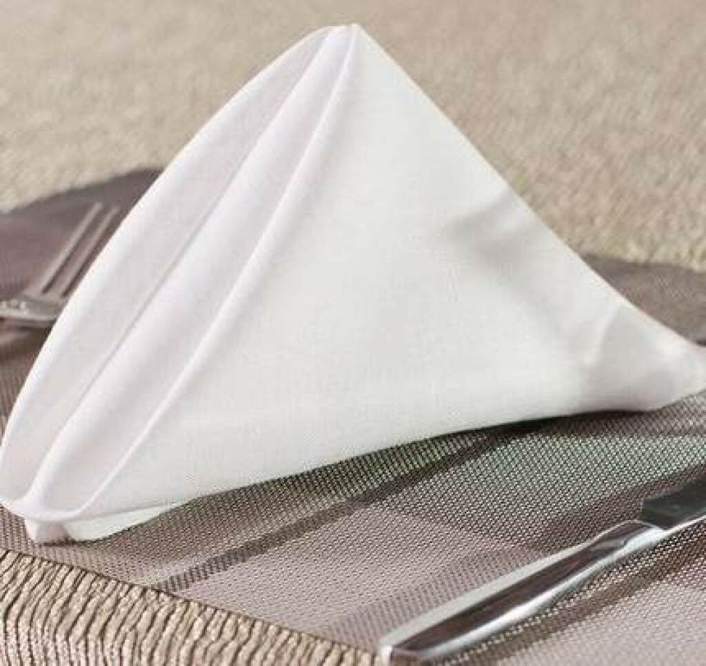 10-300 blanc 20 x 20  Inch Polyester Napkins Wedding Party Event Catering USA