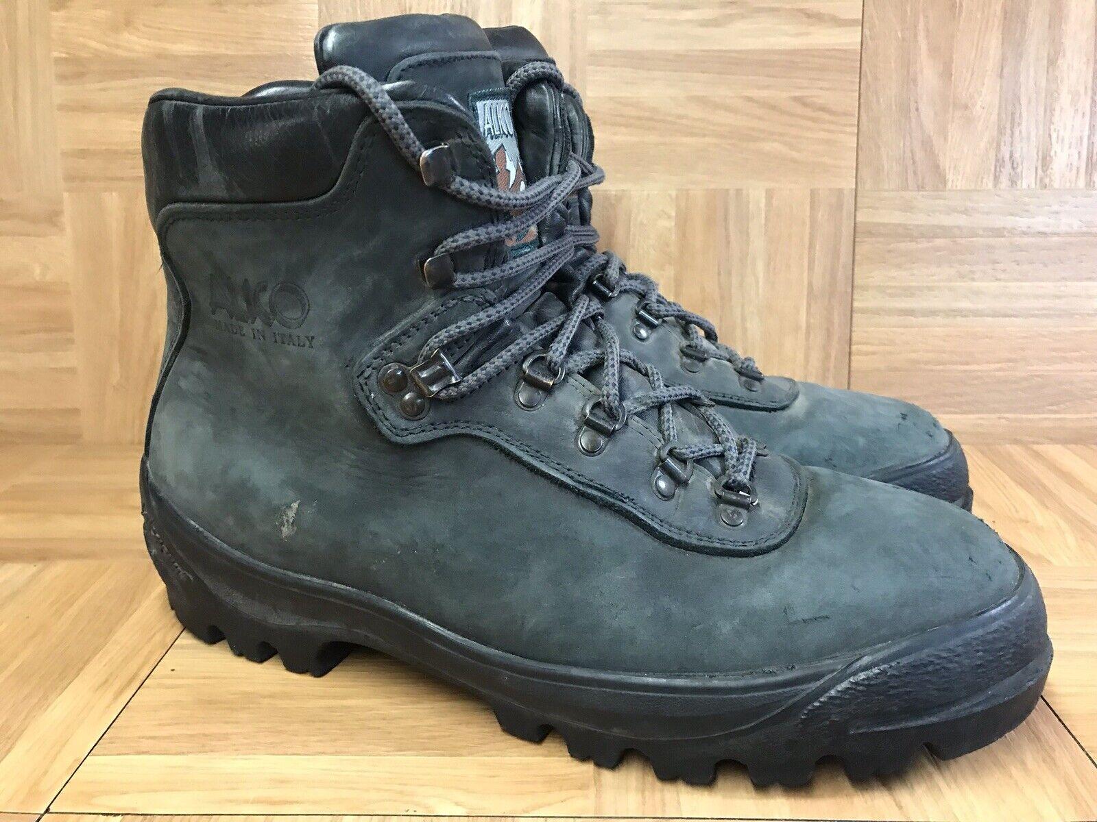 qualità ufficiale RARE RARE RARE Alico Hiking stivali Made in  Sz 12 Uomo Mountaineering scarpe Charcoal  marchi di moda