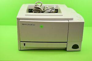 hp laserjet 2100 c4170a laser printer page count 36096 with cables cord 1 88698690901 ebay. Black Bedroom Furniture Sets. Home Design Ideas