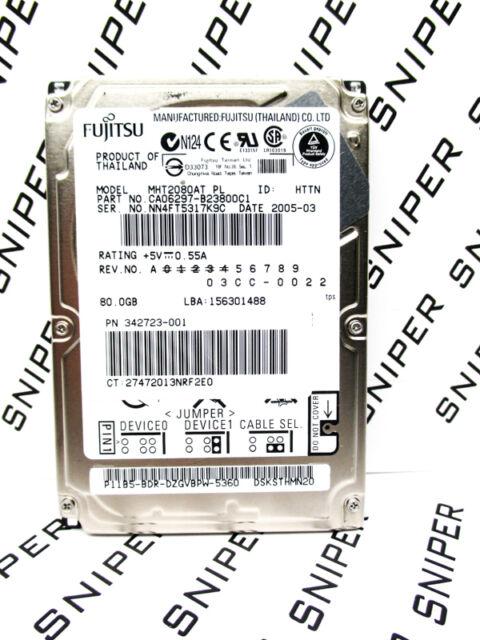 Fujitsu 80GB MHT2080AT CA06297-B23800C1 IDE Laptop Hard Drive - WIPED & TESTED