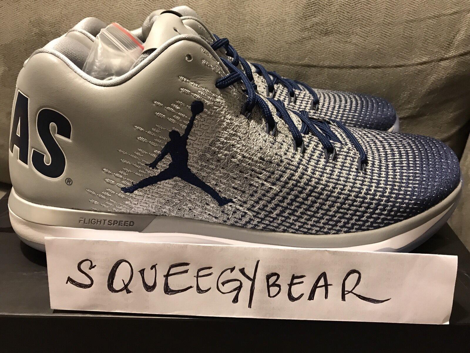 NEW Nike Air Jordan XXXI 31 Low Georgetown Hoyas Grey Navy Comfortable Cheap and beautiful fashion