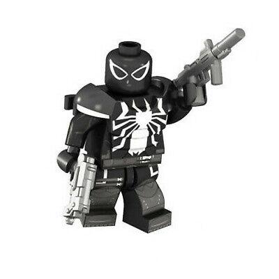 Armored Black Spider-Man Marvel Superhero Mini Action Figure Toy Moc
