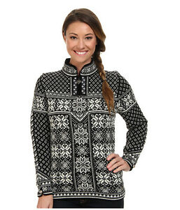 NEW! Dale of Norway 100% Norwegian Wool PEACE Sweater BLACK WHITE  b25ef737c