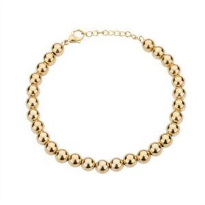 CEM-Armband-fuer-Damen-aus-Edelstahl-Perlen-20-3cm-gold-farbig-Schmuck-ST5-220