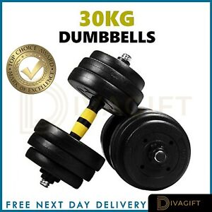 30kg Dumbells Pair of Gym Weights Barbell/Dumbbell Body Building Weight Set 20kg