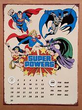 DC Comics Super Powers - Tin Metal Perpetual Calendar