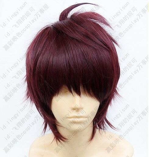 Dramatical Murder DMMd Mizuki Short Fuchsia mix Cosplay Wig Free Wig Cap