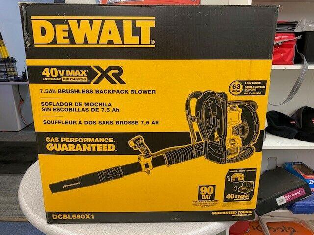New DeWalt DCBL590X1 40 V Backpack Blower FREE SHIPPING MINOT