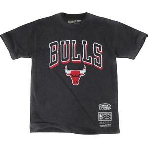 Chicago Bulls Mitchell & Ness NBA HWC Keyline Vintage T-Shirt - Faded Black