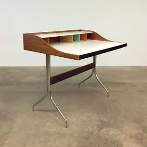 Image Is Loading George Nelson Vintage Swag Leg Desk Herman Miller