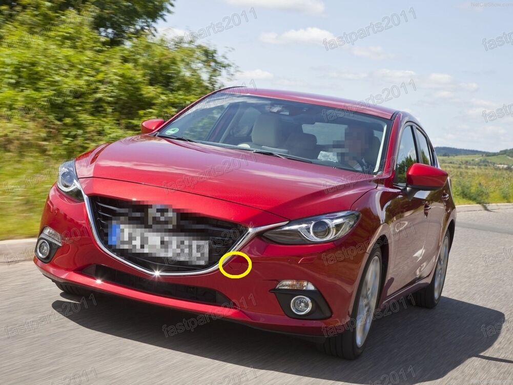 1 Pcs BKC3-50-A11F Front Bumper Tow Trailer Eye Cover Cap Trim Generic fit for Mazda 3 Axela 2014-2016
