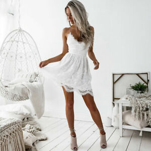 Short-Sexy-Mini-Dress-Lace-Backless-V-Neck-Women-Cocktail-Party-Evening-Summer
