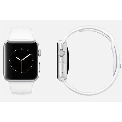 Apple Watch 38mm Silver Aluminium Case White Sport Band Pristine (A)