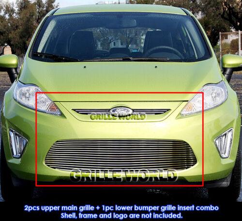 Aluminum Billet Grille Combo For 2011-2012 Ford Fiesta SE//SEL